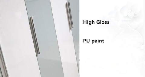 High Gloss Wardrobe with Different Style of Doors