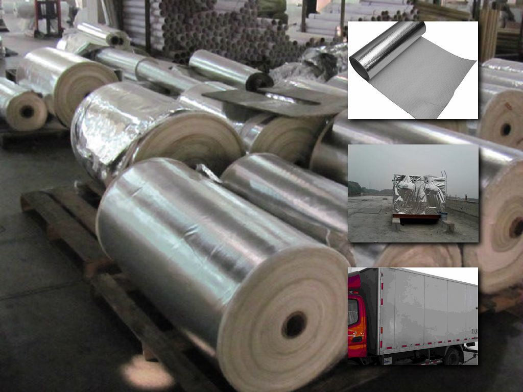 Fire Proofing Aluminum Foil Coated Fiberglass Cloth for Pipe Insulation