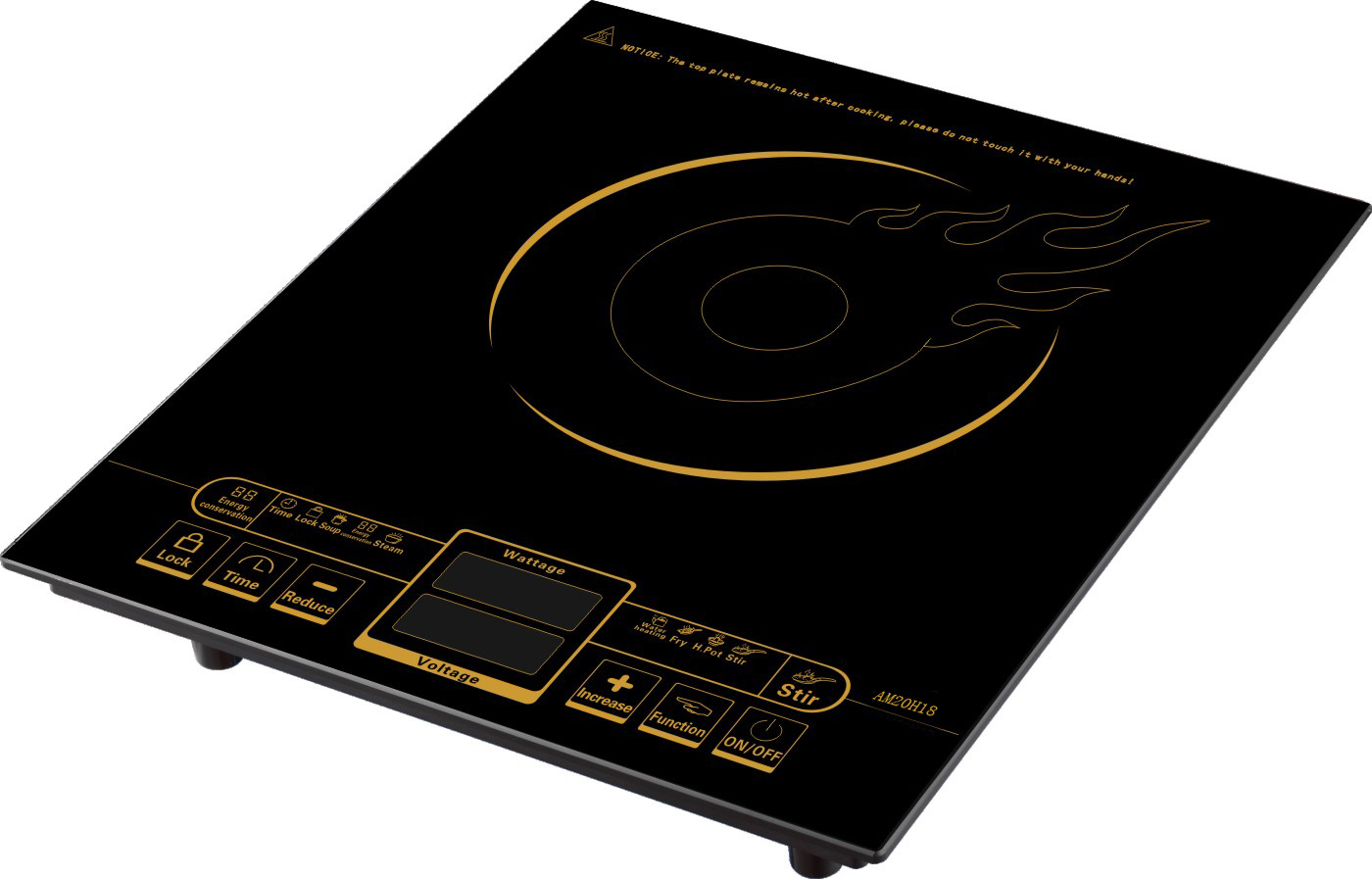 China 2000w Touch Control Imported Igbt Induction Hotplate