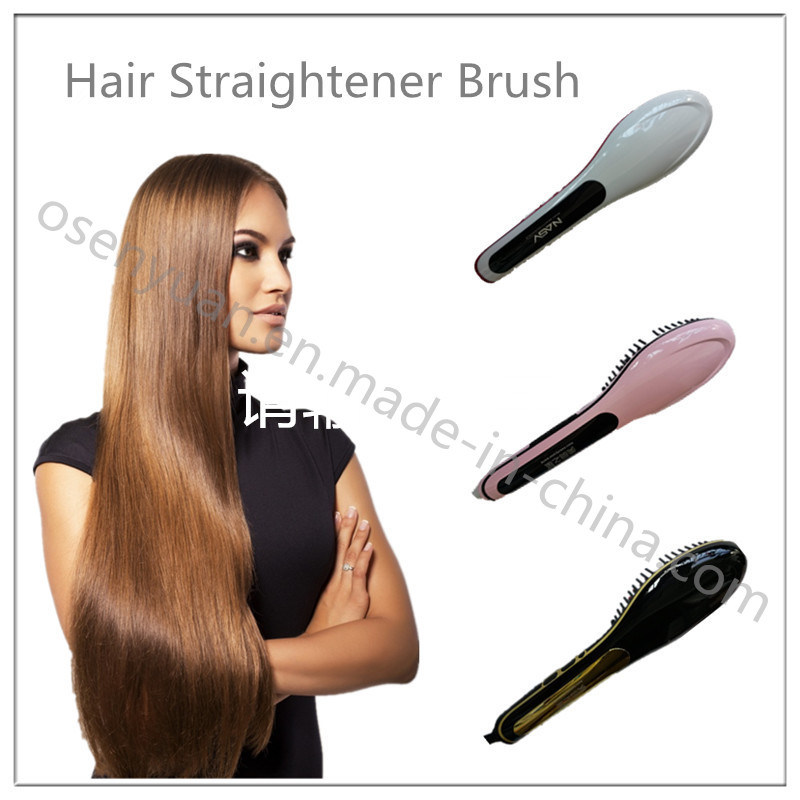 Top Selling Hair Straighener with LCD Display Hot Air Brush Hair Straightener pictures & photos
