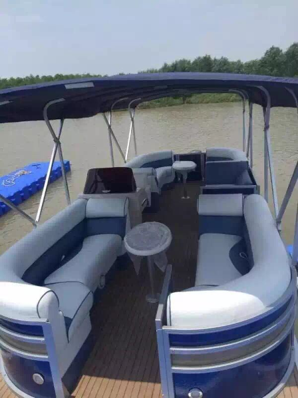 7.8 Meters Aluminum Catamaran Pontoon Boat