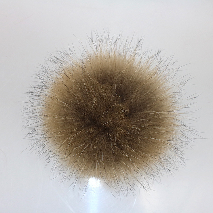 10-15cm Big Real Raccoon Fur Pompoms/Raccoon Fur Ball/Fur Pompoms Raccoon pictures & photos