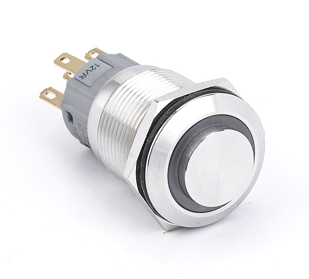 China Ce Ul 22mm Metal Pushbutton On Off Switch 2no2nc Push Button Switches Large 10mm Latching Red