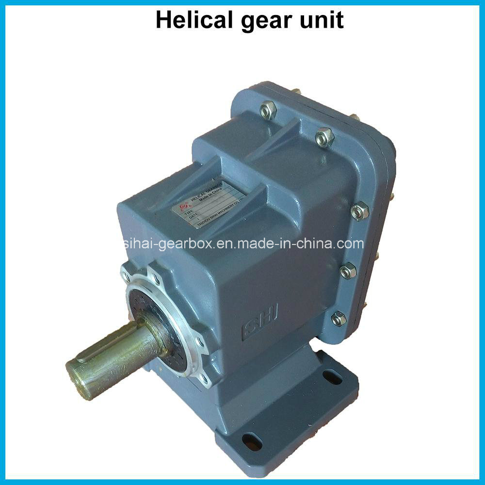 China Src04 Motor Two-Staged Speed Reduction Helical Gearbox Reducer ...