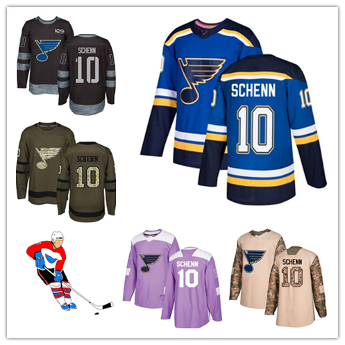 free shipping b3915 54bc2 China Men Women Youth Blues Jerseys 10 Brayden Schenn Hockey ...