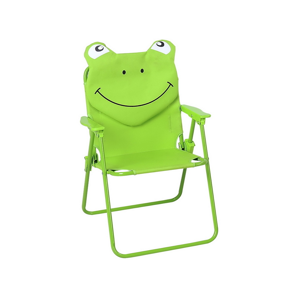 Green Frog Folding Beach Chair with Armrest (MW11036)
