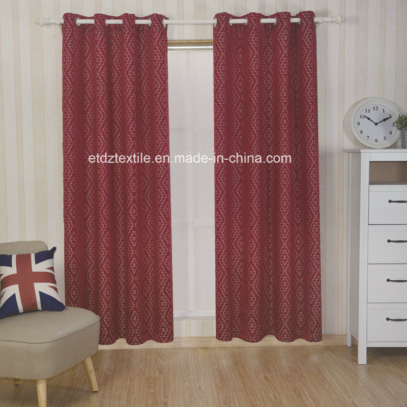 Polyester Embroidery Like Jacquard Pattern Window Curtain Fabric pictures & photos
