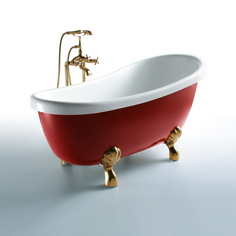 Oppein America Style Simple Acrylic Bathtub (OP-W554) pictures & photos