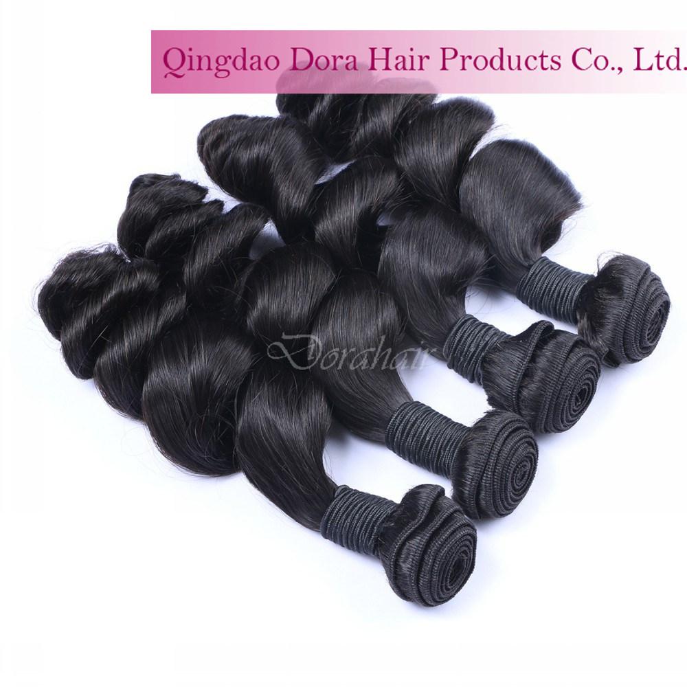 China Cheap Double Drawn Remy Hair Weft Brazilian Virgin Hair