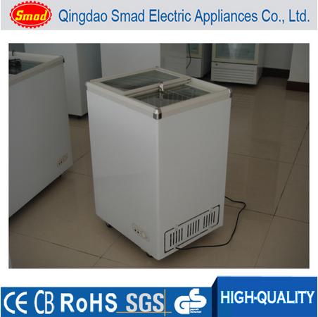 China Sliding Glass Door Mini Chest Deep Freezer Ice Cream Freezer