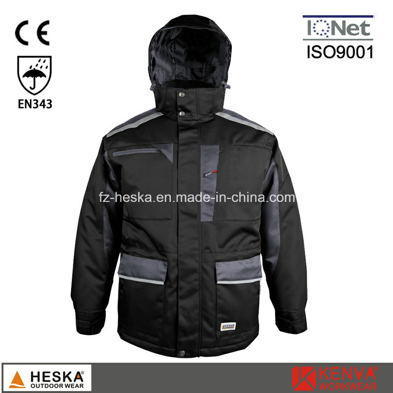 Men Safety Cothing Winter Parka Jacket with Tape Seam pictures & photos