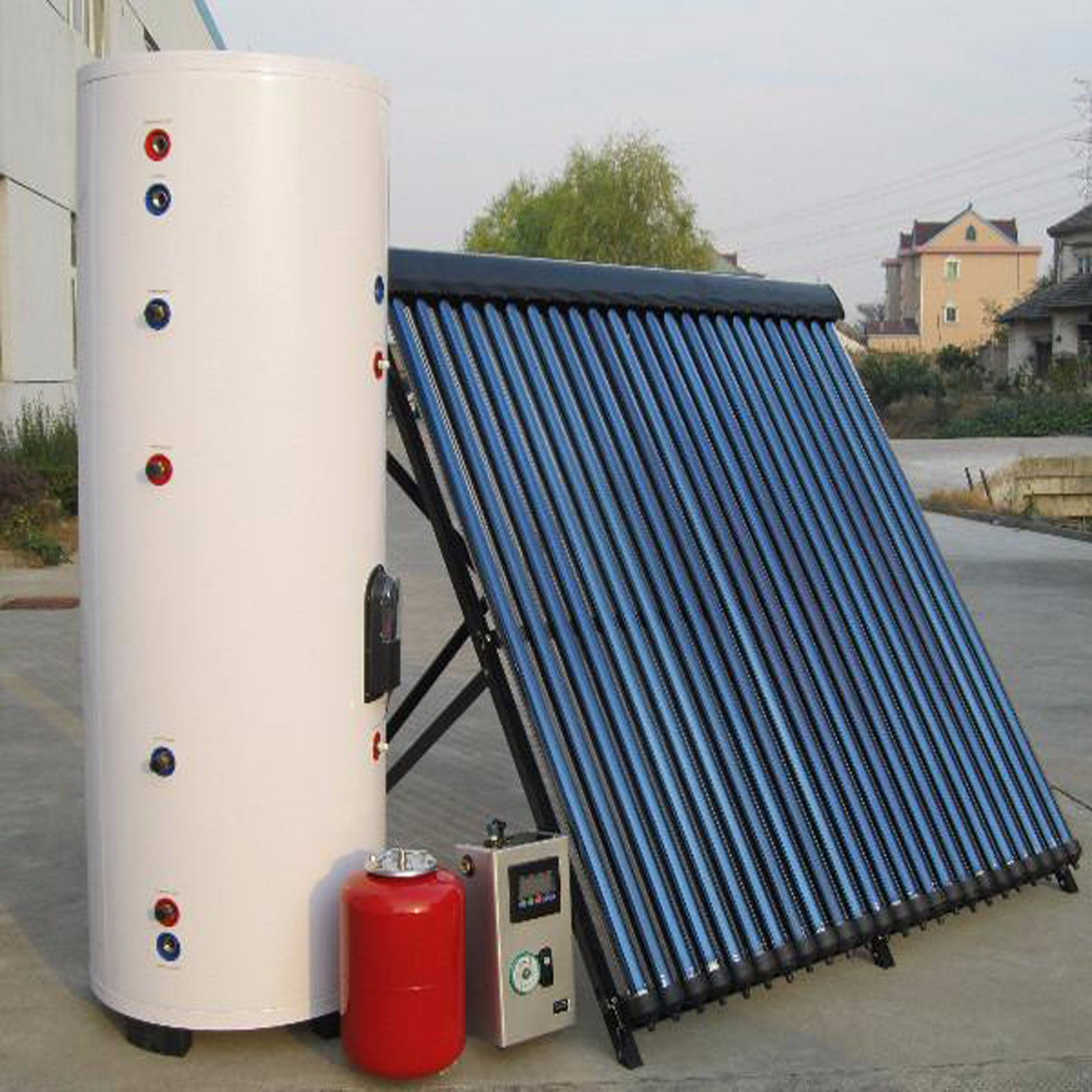 China Split/Balcony High Pressure Heat Pipe Solar Collector Hot ...