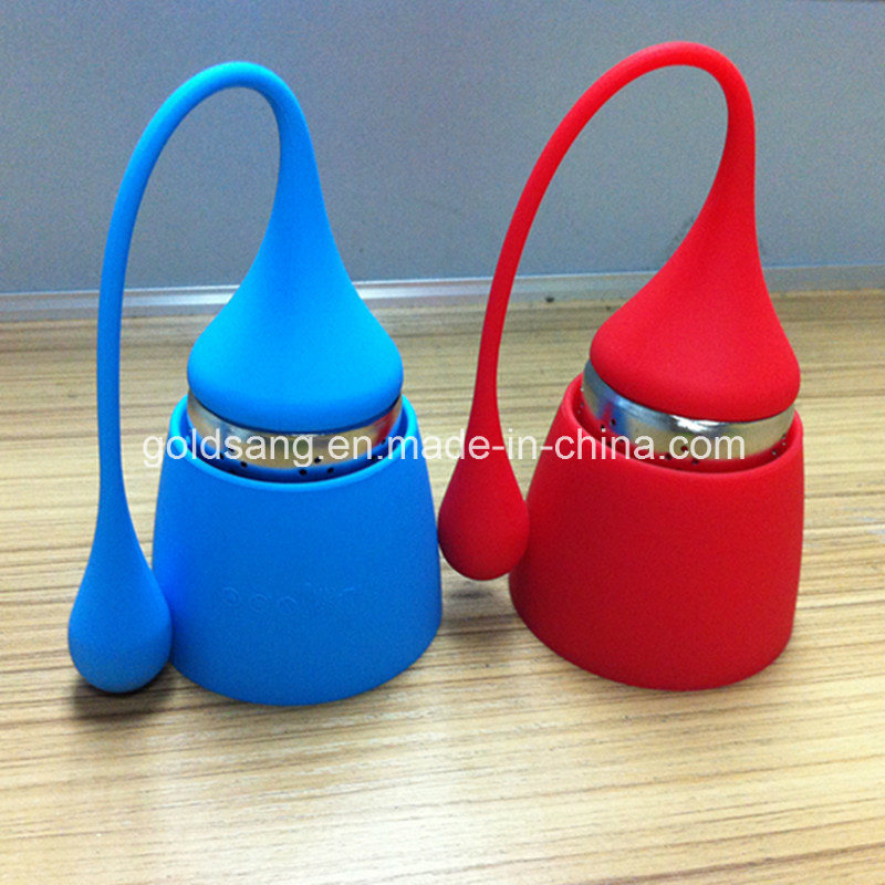 Colorful Water Drop with Long Tail Silicone Tea Infuser pictures & photos