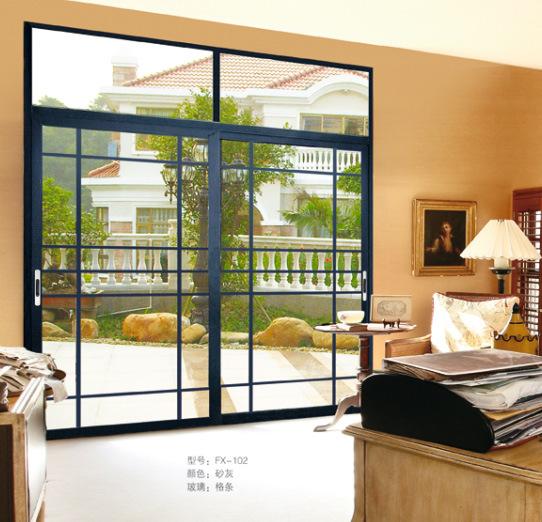 Horizontal Aluminium Sliding Glass Window With Grills Design