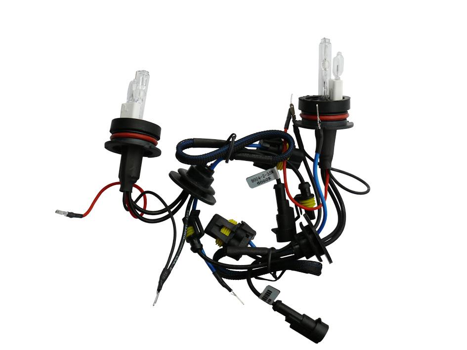 China Ac 12v 55w 9004 Plastic Base Automotive Hid Bulbs