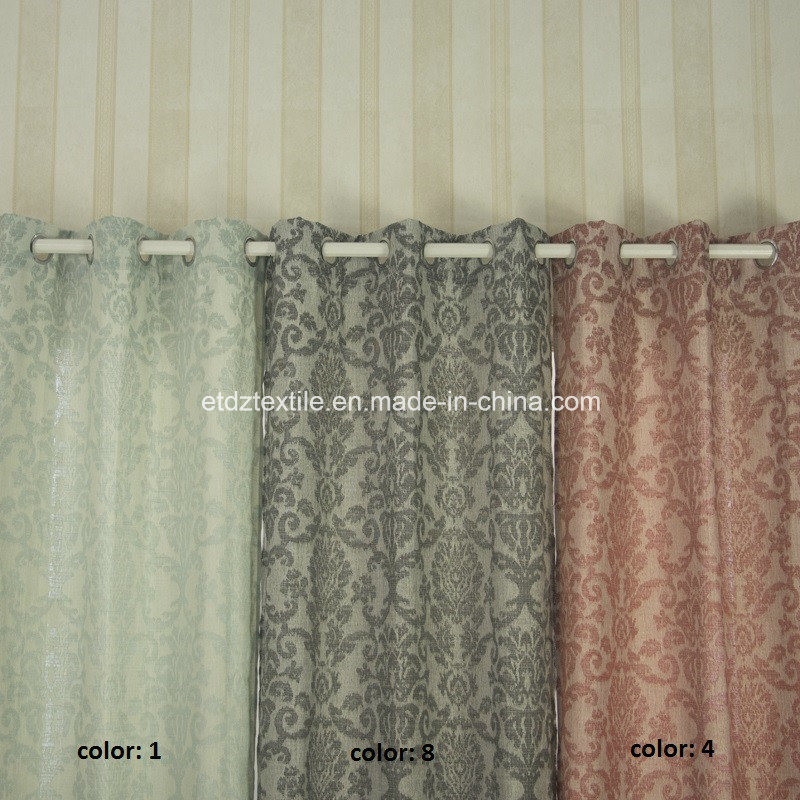 European Popular Pattern Polyester Curtain Fabric pictures & photos
