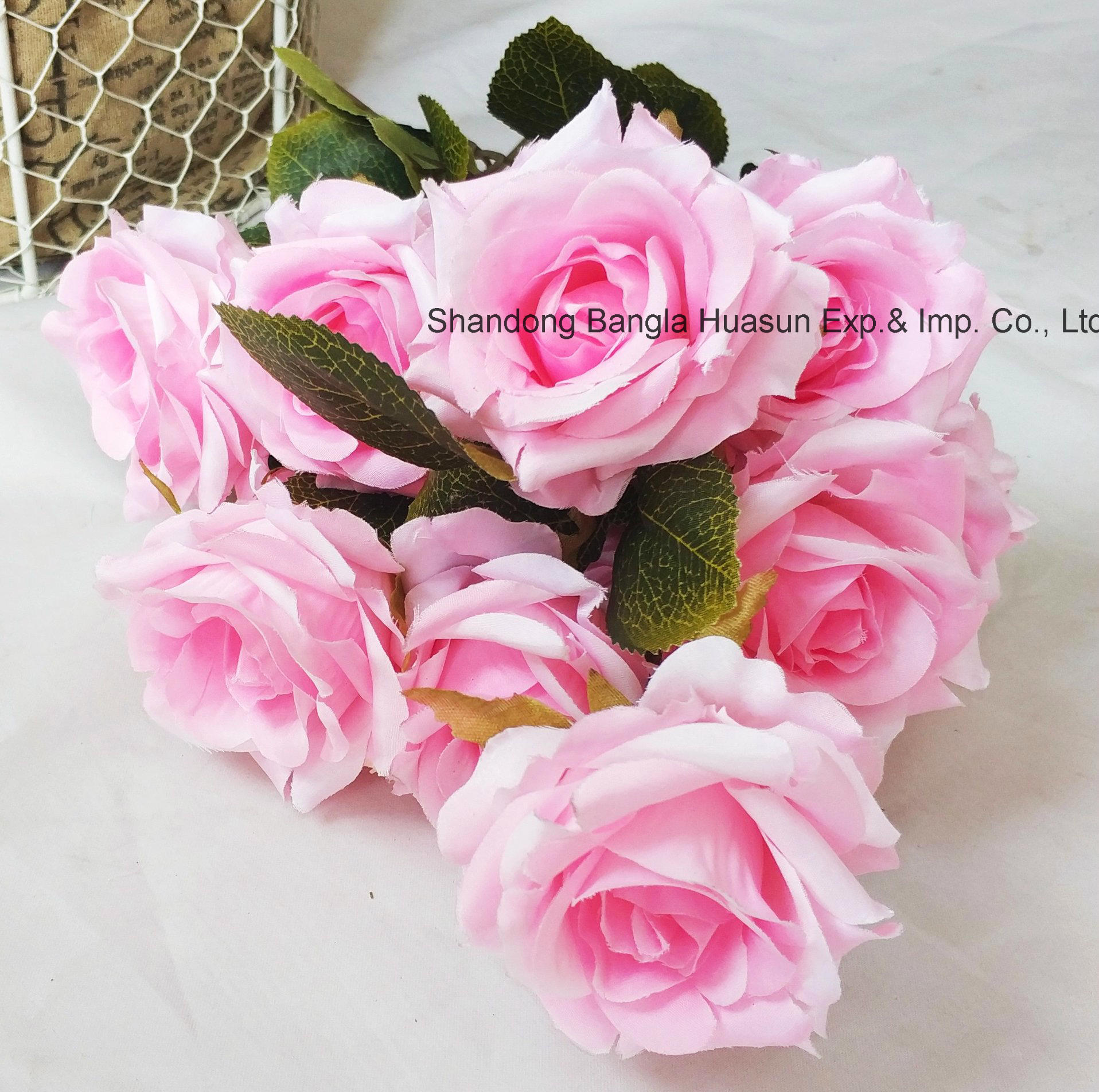 China Home And Gift Festival Decoration Silk Roses Artificial
