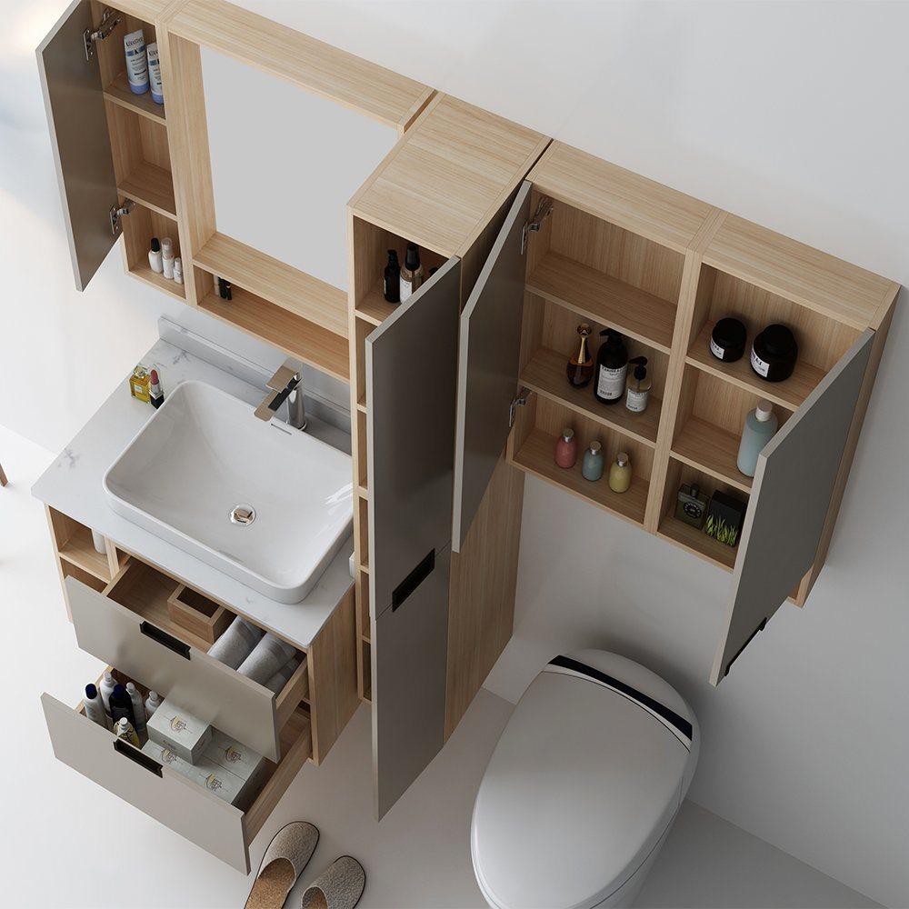 Grey Bathroom Vanity Cabinets