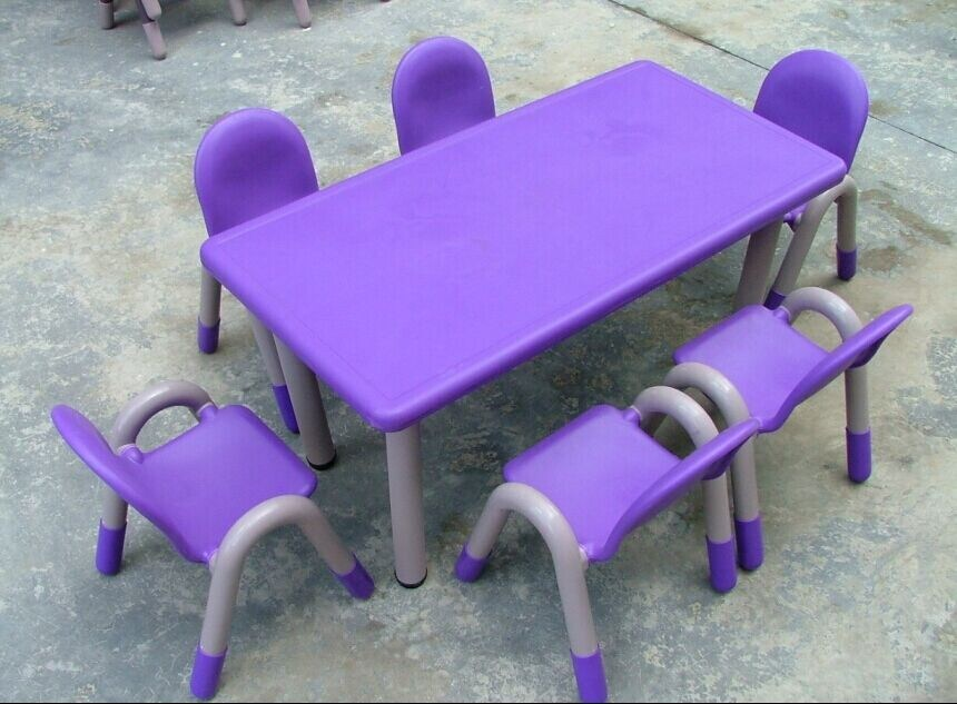 School Children Plastic Table With Stainless Steel Table Leg (IFP 034)
