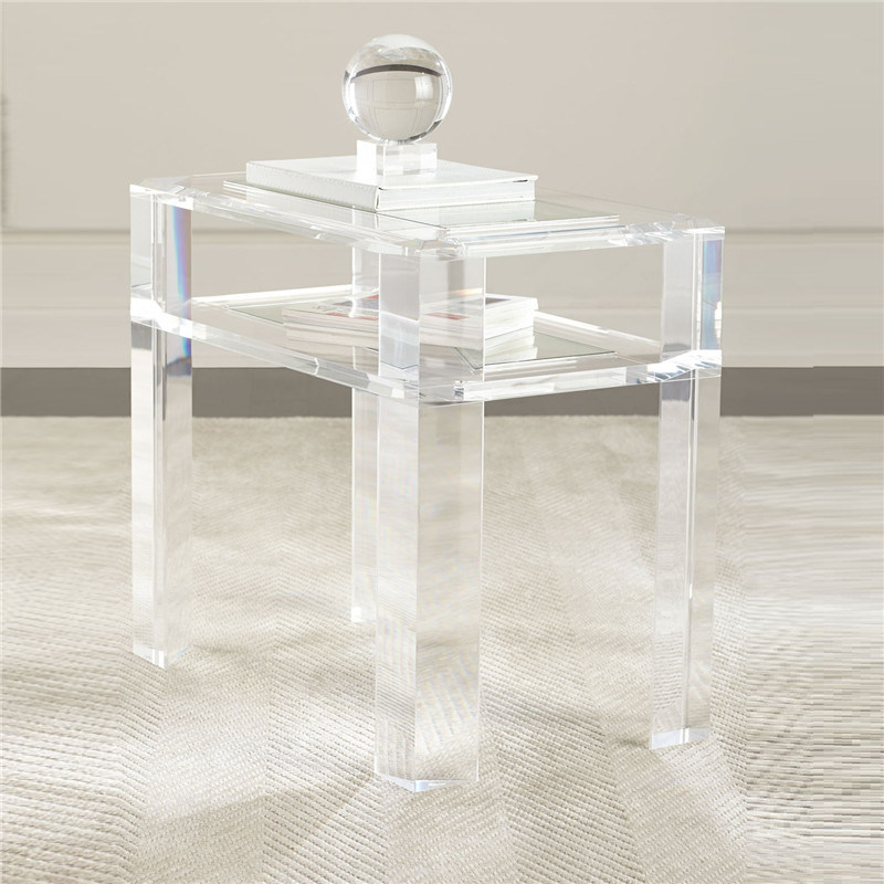 Hot Item Customized Transparent Acrylic Living Room Coffee Table