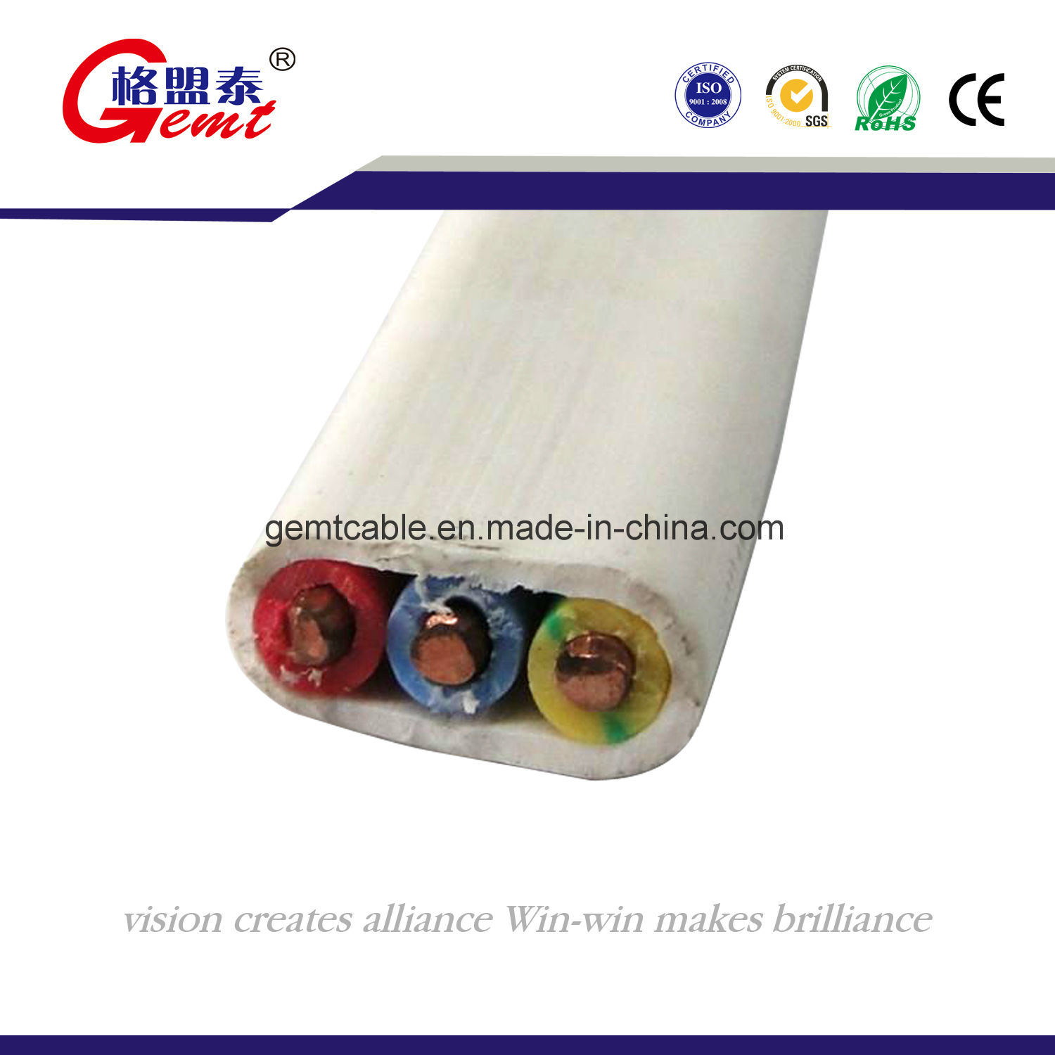 China 7 Core Cable 4 Core Copper Cable Multi-Core Flat Cable Photos ...