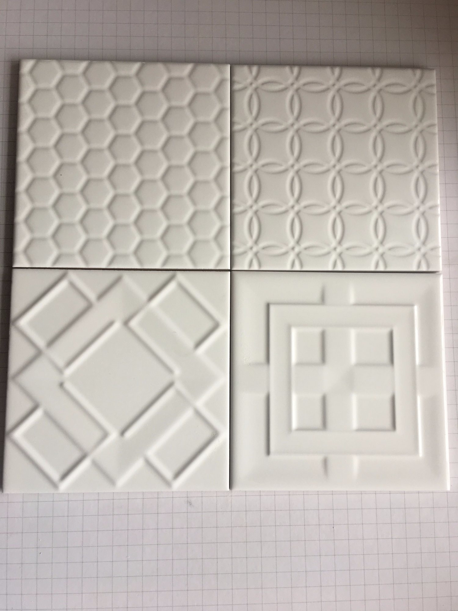 China 6x615x15cm White Glossy Bevel Subway Tile For Bathroom And