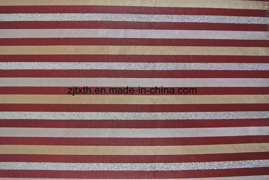 Blue Striped Upholstery Fabric For Sofa