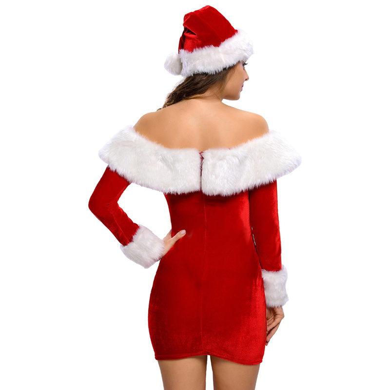 2018 Sexy Delightful Santa Sweetie Adult Christmas Dress Costume pictures & photos