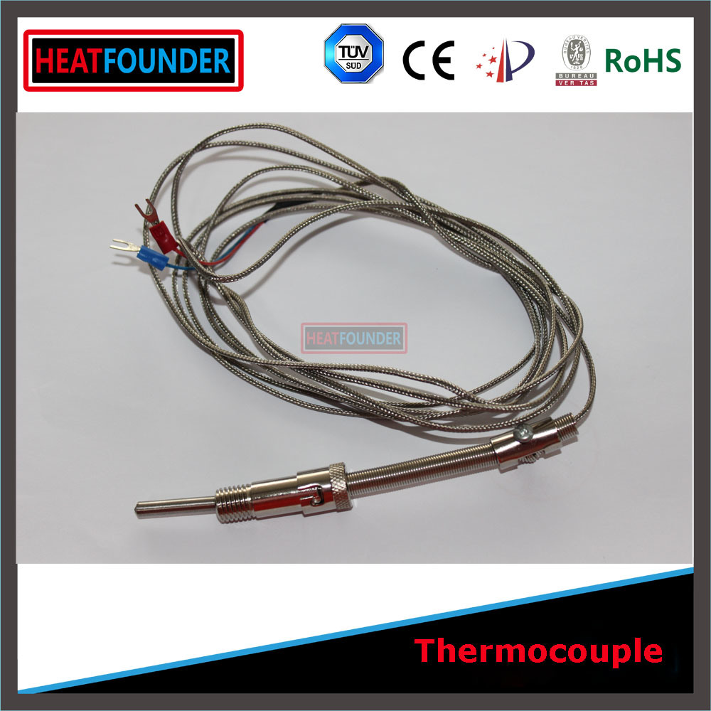 China Armored Thermocouple K Type with 2m Compensation Wire Photos ...