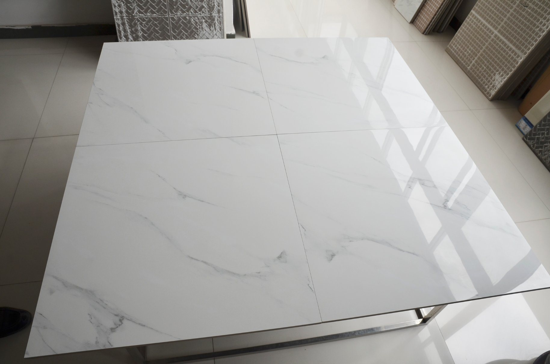 China Polished Corona Tile Bathroom Verona White Ceramic Glazed ...