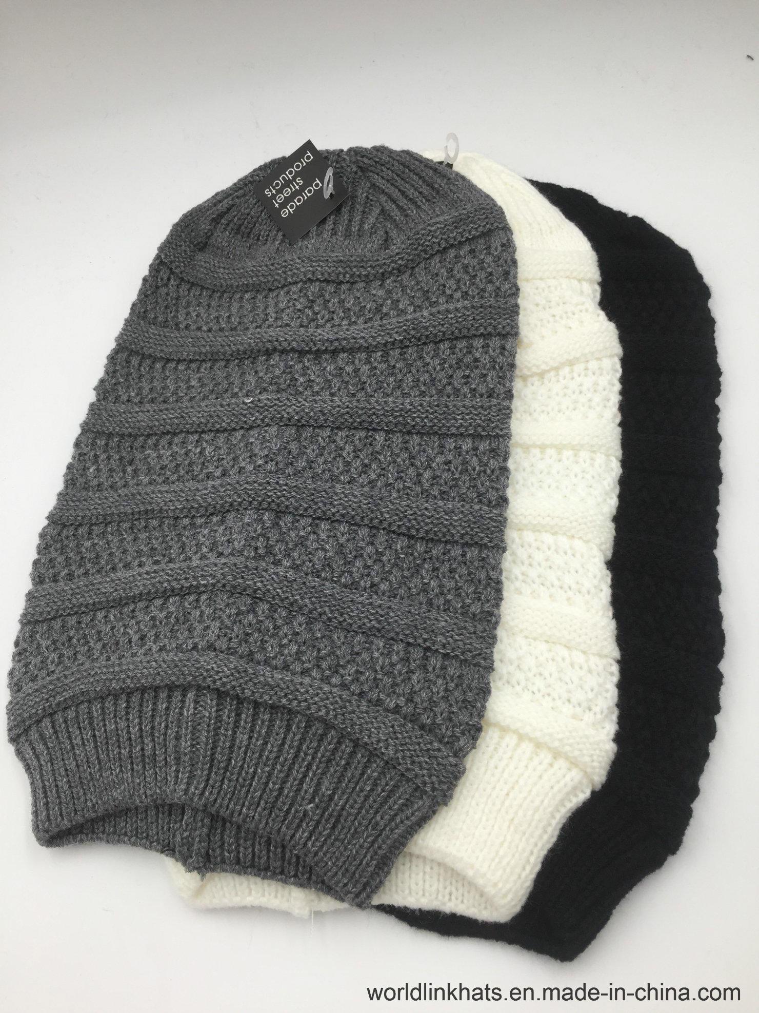 9064d4fc239 China Custom Plain Blank Warm Winter Lengthen Beanie Knitted Cap - China  Lengthen Beanie Hat