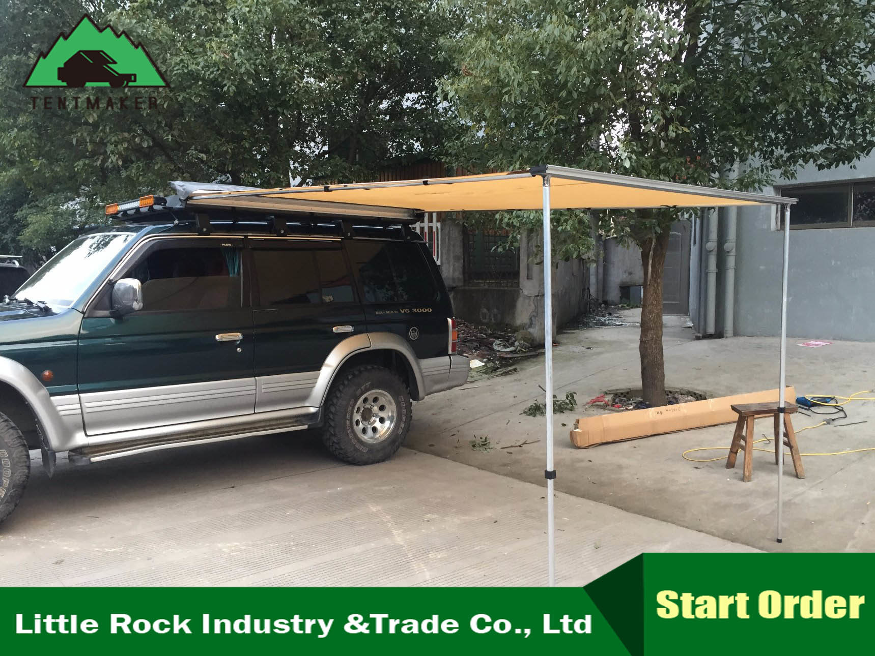 China Car Side Awning 4WD Caravan Side Awning - China Ripstop Awning Car Awning & [Hot Item] Car Side Awning 4WD Caravan Side Awning