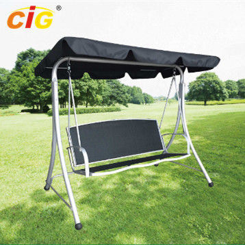 China 3 Seat Metal Frame Outdoor Patio Swing With Canopy