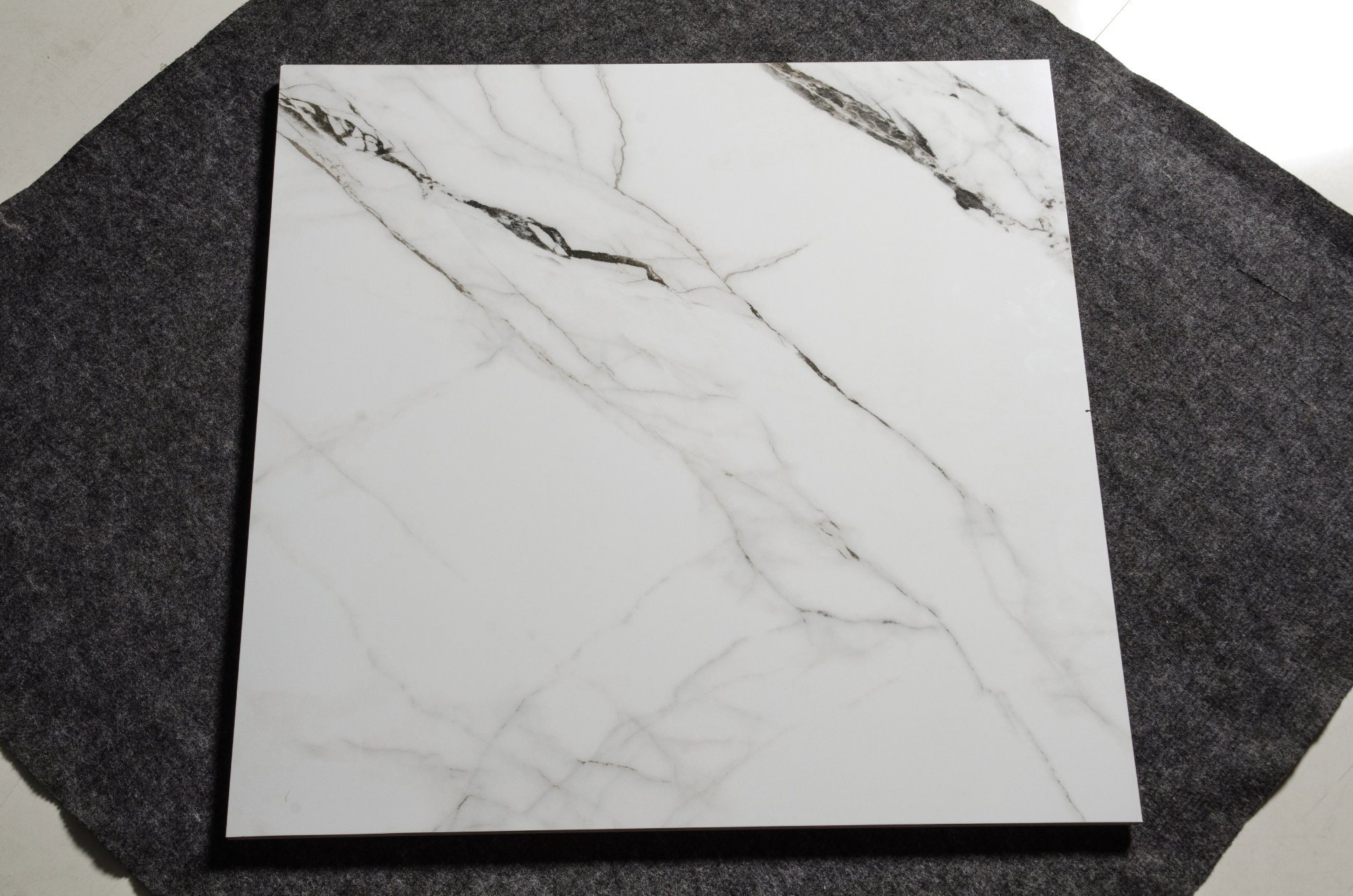 China Sanford Marfil White Marble Polished Porcelain Floor Tile