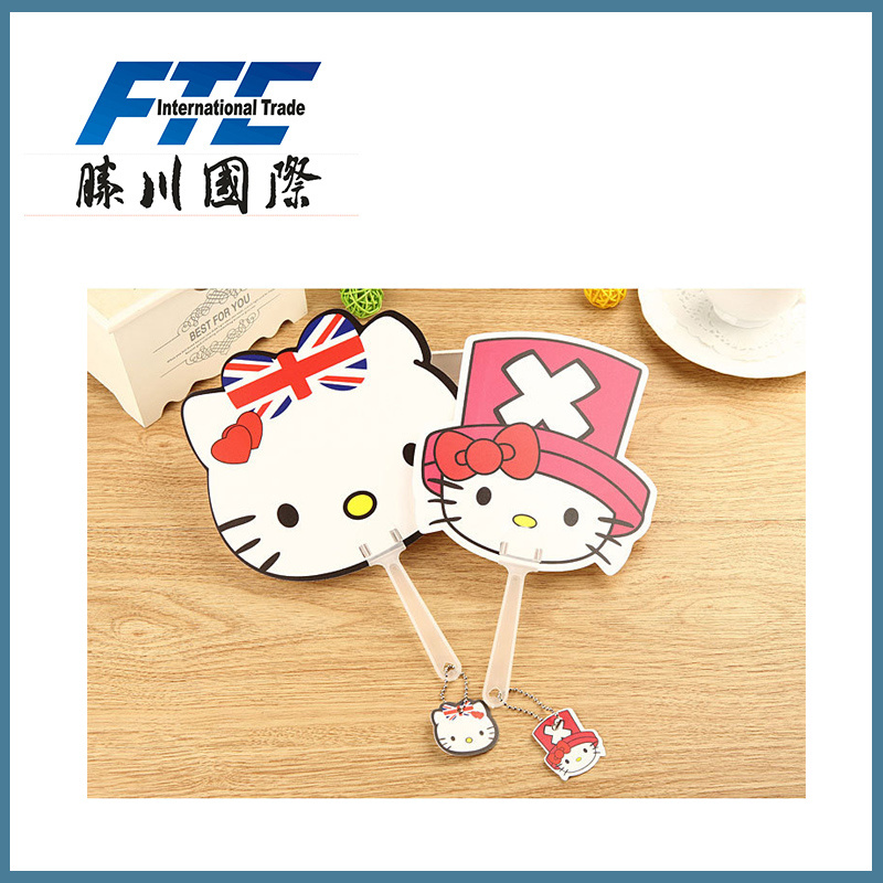 Summer Promotional Gifts Colorful Cute Mini Cartoon Hand Fan pictures & photos