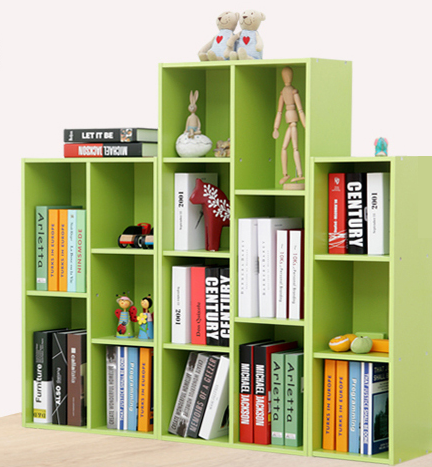 Modern Portable Colorful Book Case Bookshelf With Cheap