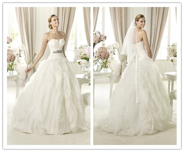 China Feather Bodice Organza Ball Gown Wedding Dress Wd33003 China Wedding Dress And Wedding Gown Price