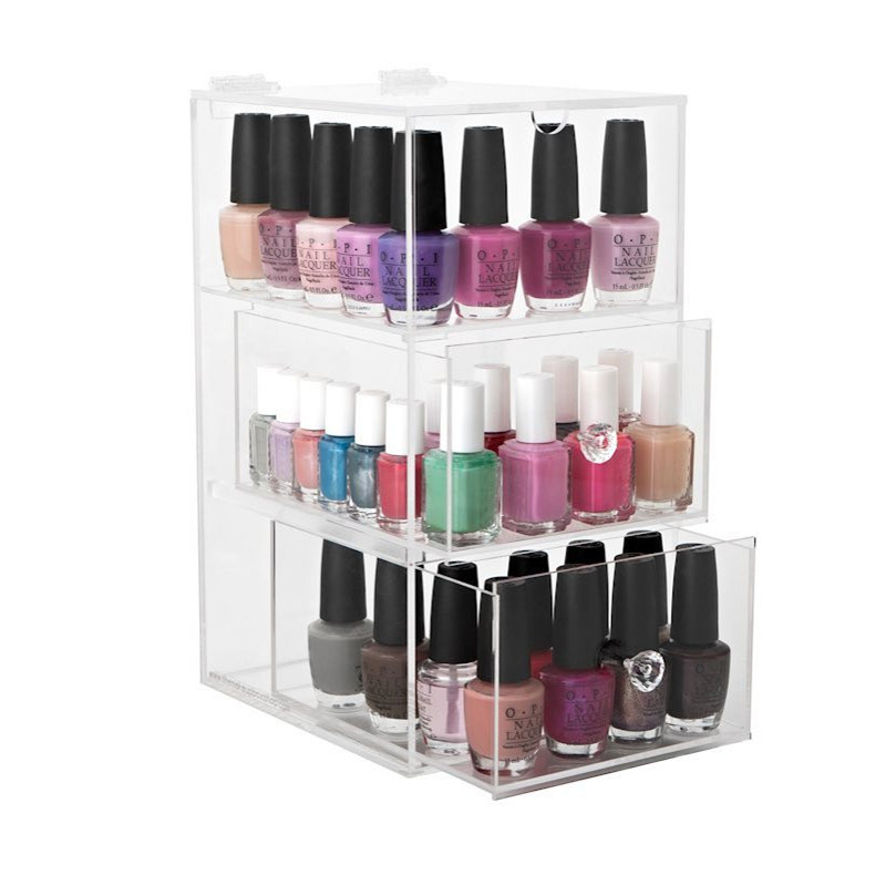 China Acrylic for Nail Polish Holder Makeup Storage Box - China ...