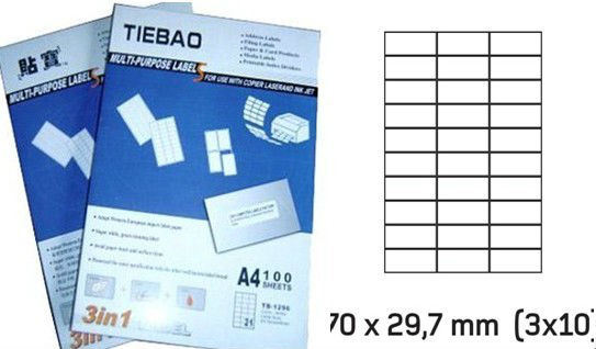 A4 Size Adhesive Shipping Labels (JN-0213)