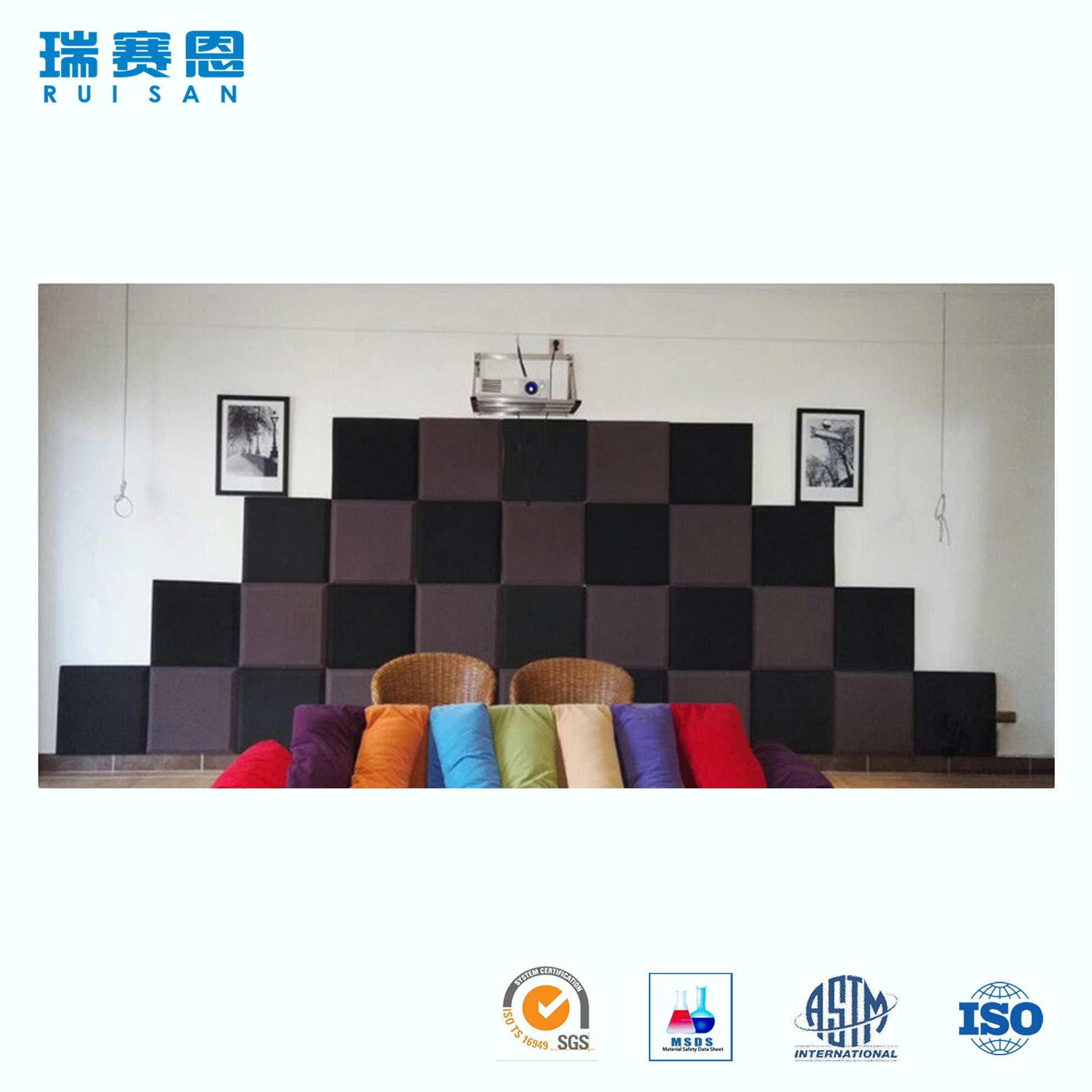China Soundproof Wall Insulation Accordion Sliding Door Acoustic
