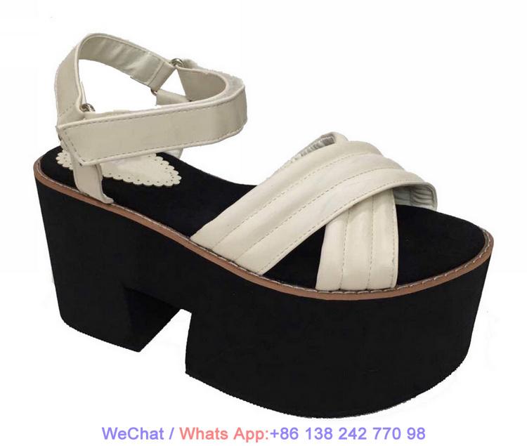 68a265f036f0 China Lady Wedge Sandals High Heels Flat EVA Platform Women Shoes ...