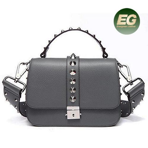 642e1c37ada China Wholesale Handbag Leather Women Shopping Bag Popular Design Studded  Bag Emg5337. Get Latest Price