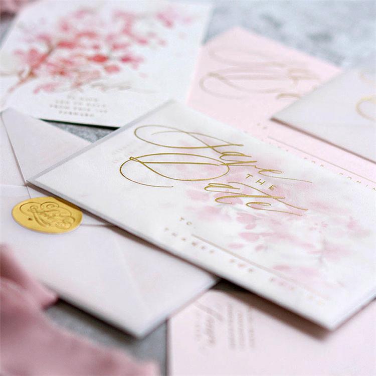 China Pulling Type With Custom Logo Wedding Invitation Card