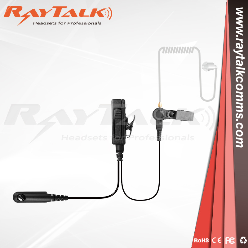 Acoustic Tube Headset//Ear Piece with Microphone for Motorola 2 Way Radio GP328