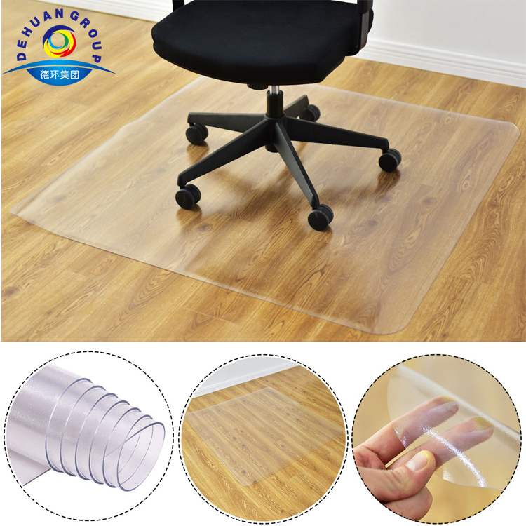China Pvc Pp Office Desk Chair Mat For Hard Floors Carpet Protector