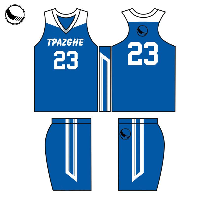 7a9fefebf0e China Custom Made Athletic Basketball Uniform Blue Basketball Shirt ...