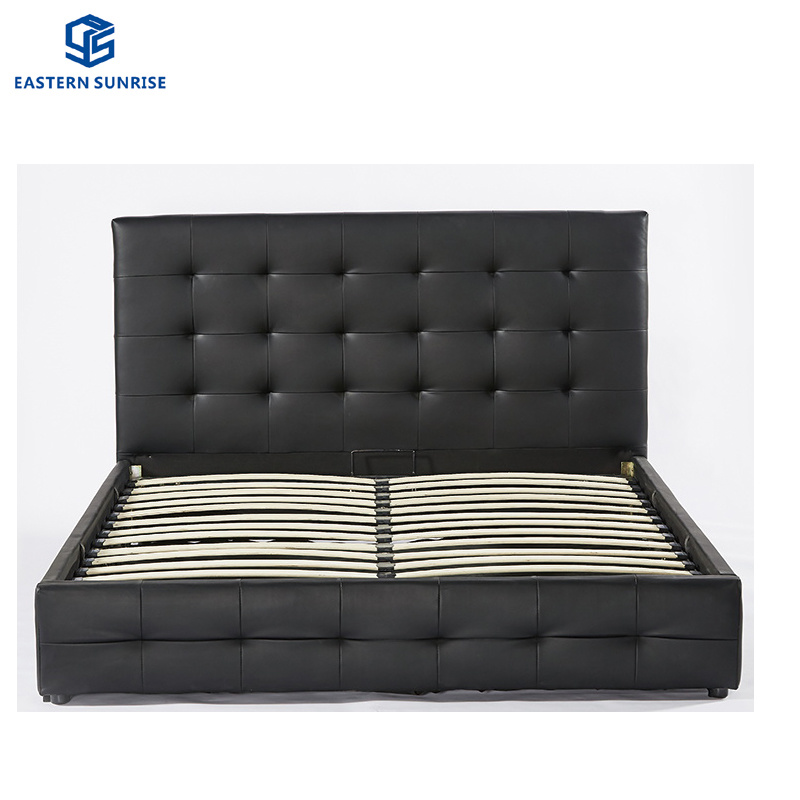 China Modern Bedroom Furniture Hotel King Size Bed China Leather Bed Queen Bed