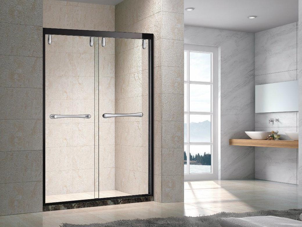 Hot Item Popularin Mid East Aluminum Frame New Design Tempered Glass Frameless Cheap Sliding Shower Door