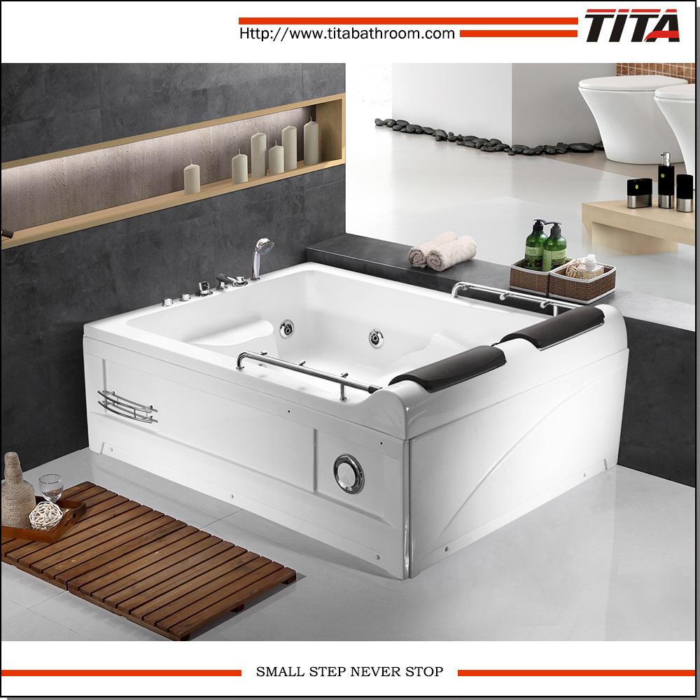 China Big Size Square Acrylic Indoor Whirlpool Bathtub Tmb018 ...