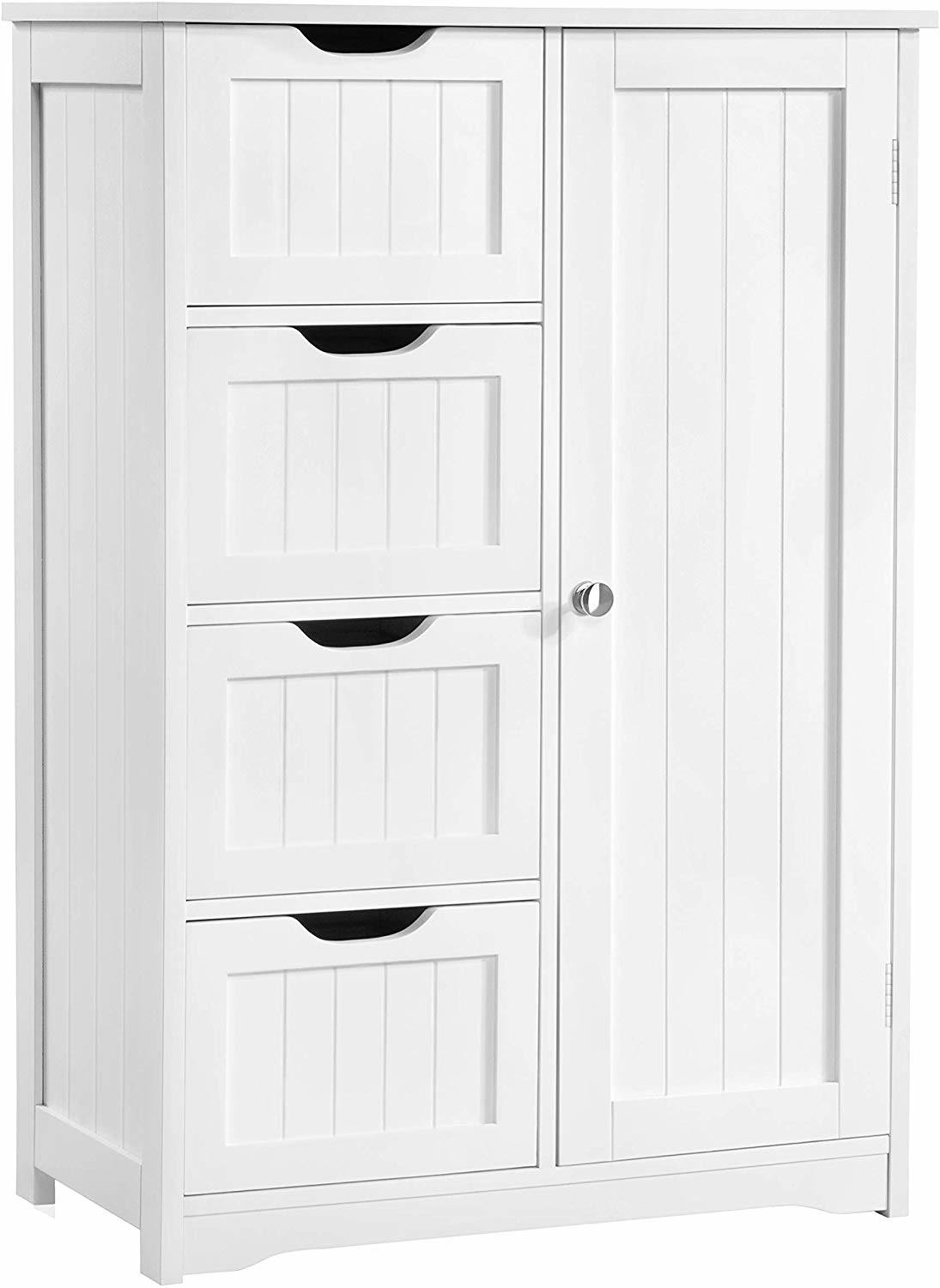 Bathroom Storage Cabinet With 4 Drawers